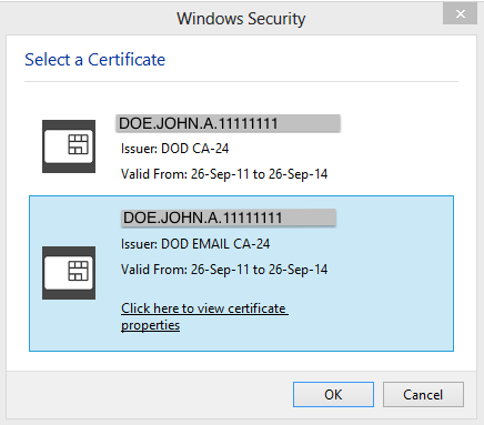 Windows8 Cert Selector
